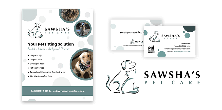 Sawsha's Pet Care - Graphic Design Work Example