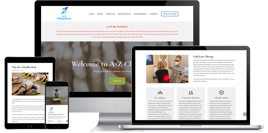 A-Z Chiropractic Website Preview