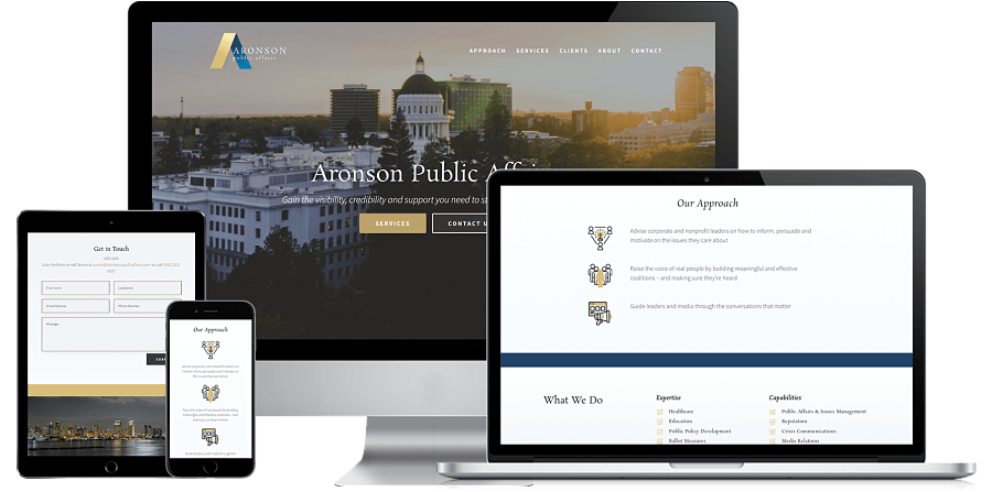 Aronson Public Affairs Website Preview