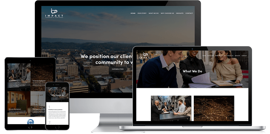 Impact Community Partners Website Preview