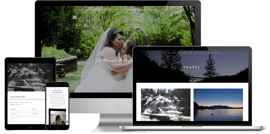 Joe Miranda Photography Website Preview