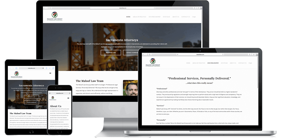 Maloof Law Website Preview