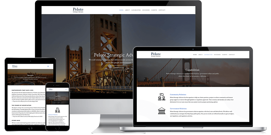 Pelote Strategic Website Preview