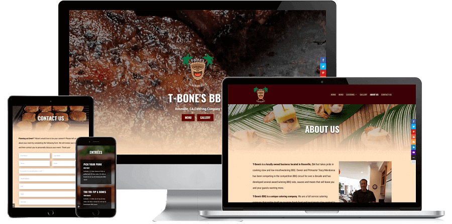 T-Bone's BBQ Website Preview