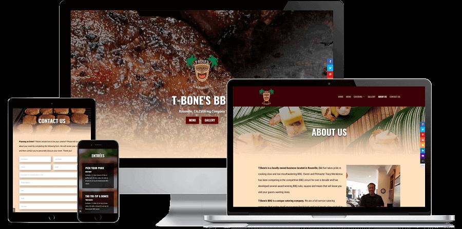 T-Bone's BBQ Website Preview