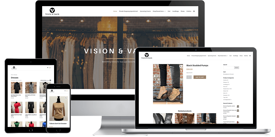Vision and Valor Website Preview